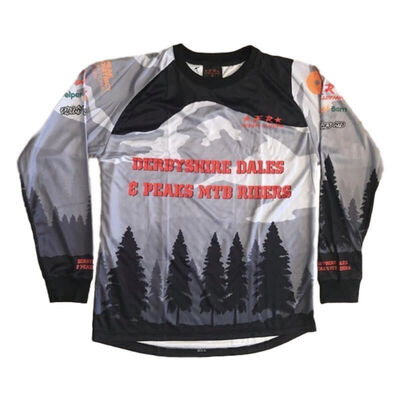 Filthy Rides Custom Clothing Derbyshire Dales & Peaks MTB Riders Jersey - Long Sleeved