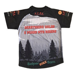 Filthy Rides Custom Clothing Derbyshire Dales & Peaks MTB Riders Jersey- Short Sleeved click to zoom image