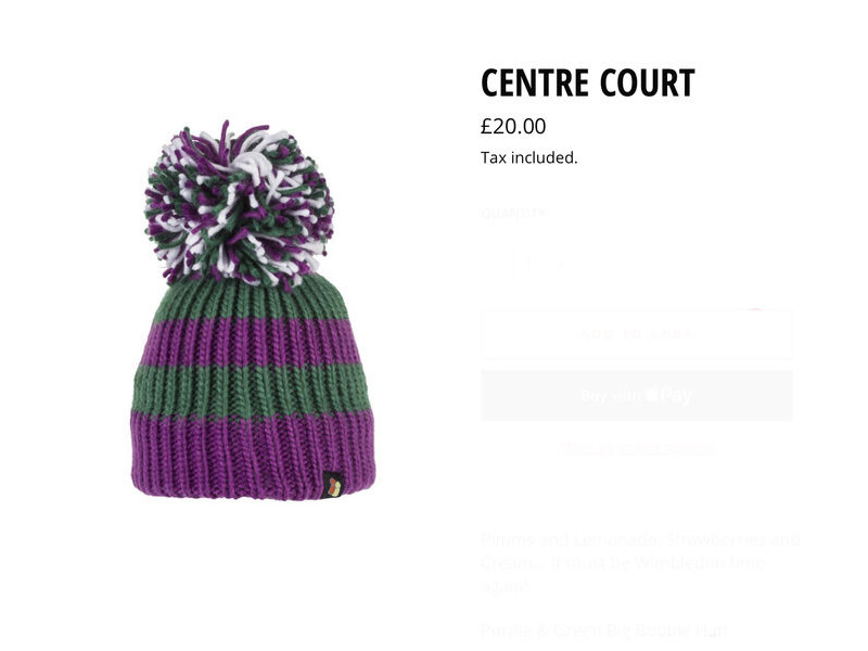 Big Bobble Hats Centre Court click to zoom image