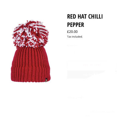 Big Bobble Hats Red Hat Chilli Pepper