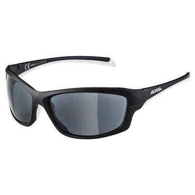 Alpina Dyfer Glasses Black/White Ceramic Black Lens