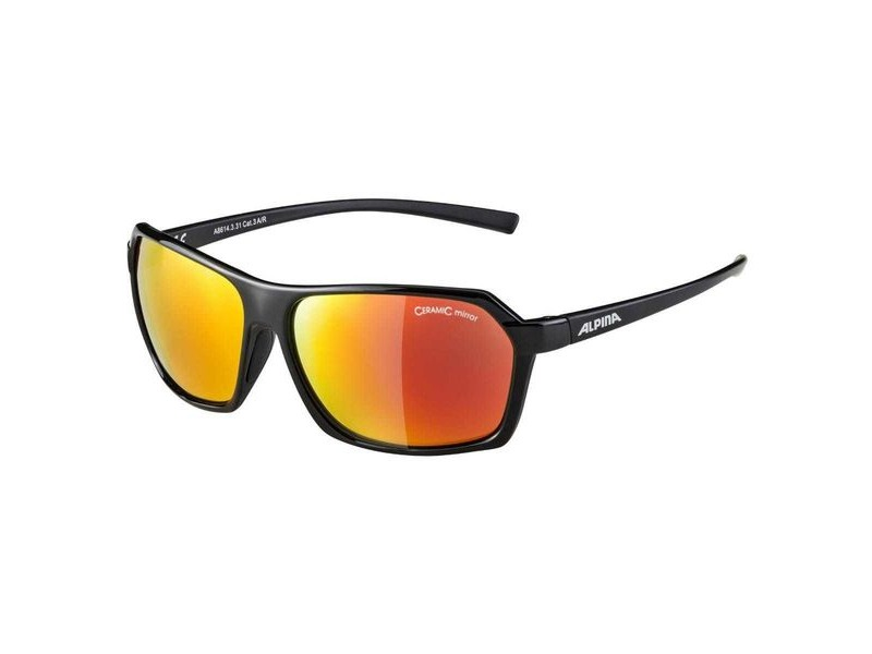Alpina Finety Black Ceramic Mirror Red Lens click to zoom image