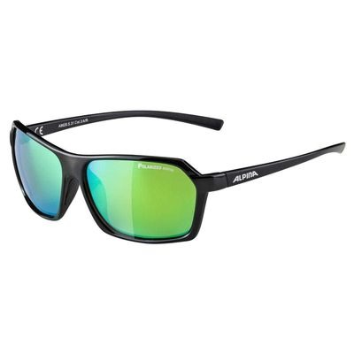 Alpina Finety P Black Polarised Mirror Green Lens