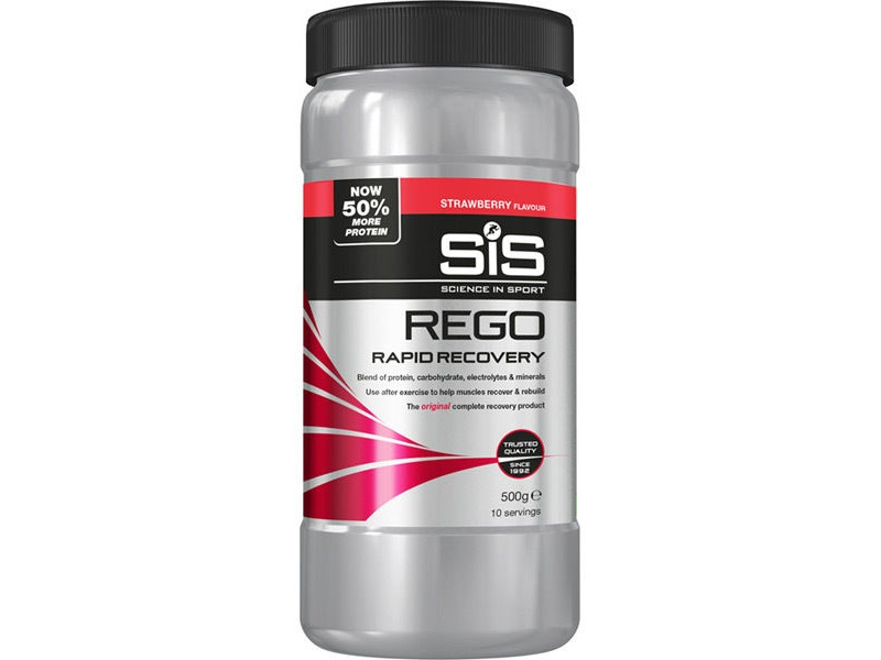 Science In Sport REGO Rapid Recovery strawberry 500g click to zoom image