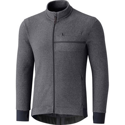 Shimano Clothing Men's - Transit Fleece Jersey - Raven