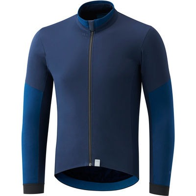 Shimano Clothing Men's Evolve Wind Jersey, Navy