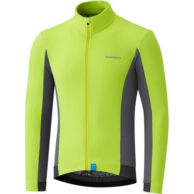 Shimano Clothing Men's Thermal Jersey, Neon Yellow