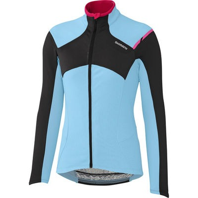 Shimano Clothing W's Performance Thermal Winter Jersey, Ice Blue, Large