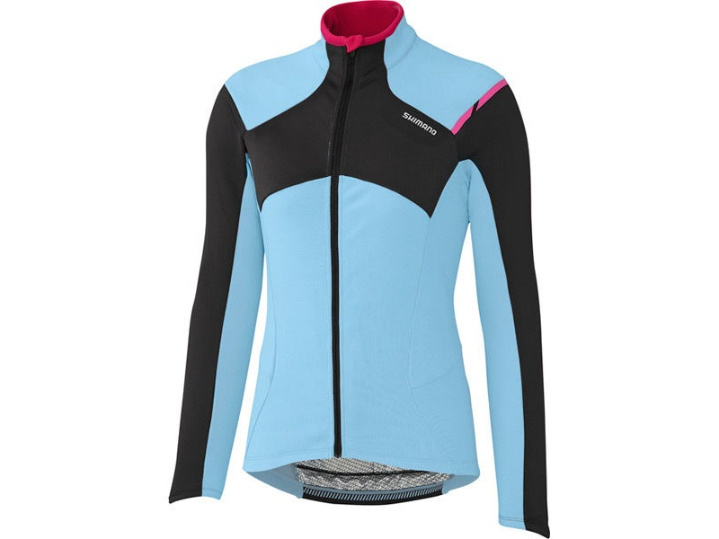 Shimano Clothing W's Performance Thermal Winter Jersey, Ice Blue, Large click to zoom image