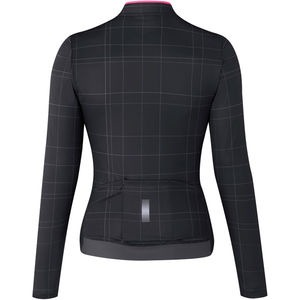 Shimano Clothing Women's Kaede Thermal Jersey, Black click to zoom image