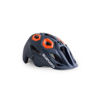 Bluegrass Golden Eyes MTB Helmet - Petrol Blue Texture & Orange