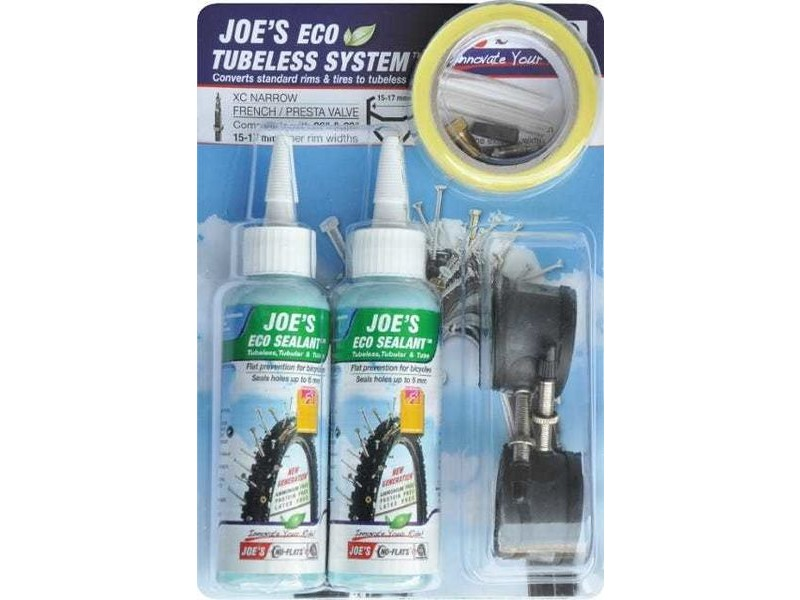 Joe's No Flats Tubeless System XC Narrow Presta Valve 15-17mm click to zoom image