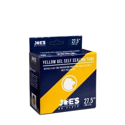 Joe's No Flats Yellow Gel Self Sealing Inner Tube 27.5 x 1.90-2.35 Presta
