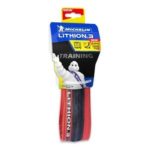 Michelin Lithion 3 Tyre 700 x 23c Red (23-622) click to zoom image