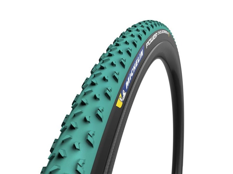 Michelin Power Cyclocross Mud Tyre Green 700 x 33c click to zoom image