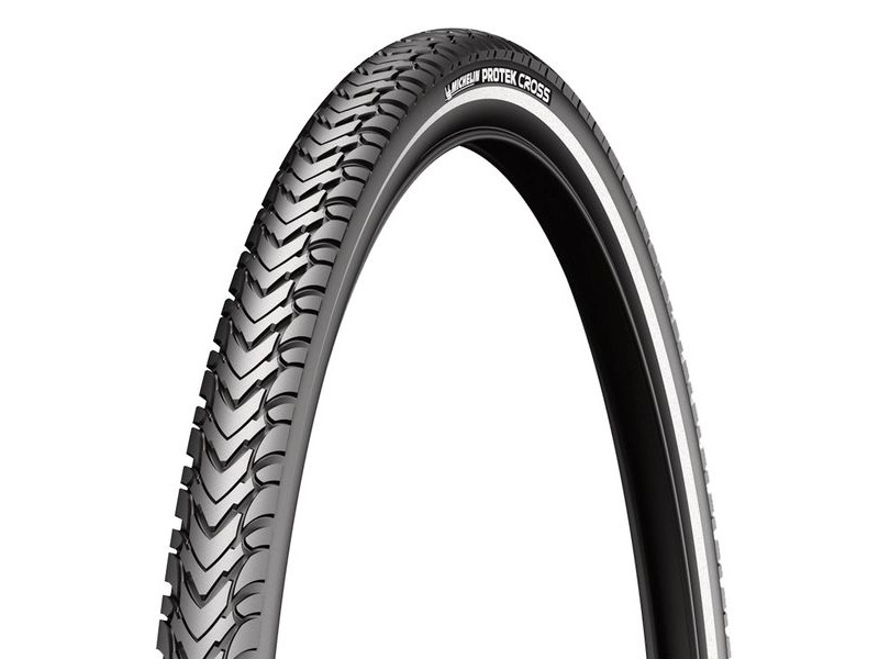 Michelin Protek Cross Tyre 700 x 32c Black / Reflective (32-622) click to zoom image