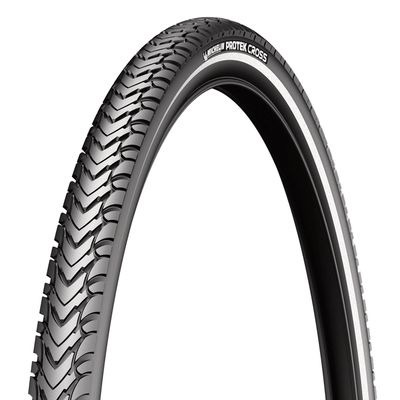 Michelin Protek Cross Tyre 700 x 47c Black / Reflective (47-622)