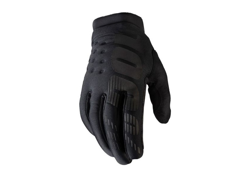 100% Brisker Cold Weather Glove Black / Grey click to zoom image