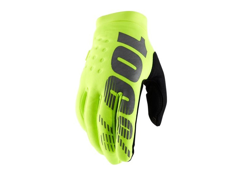 100% Brisker Cold Weather Glove 2019 Fluo Yellow click to zoom image