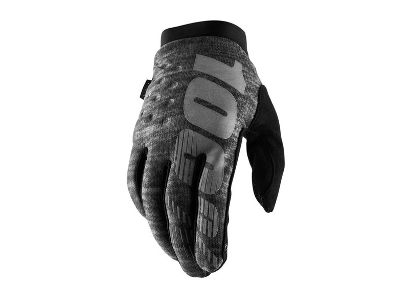 100% Brisker Cold Weather Glove 2019 Heather Grey click to zoom image