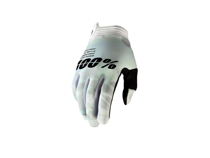 100% iTrack Glove White Camo click to zoom image