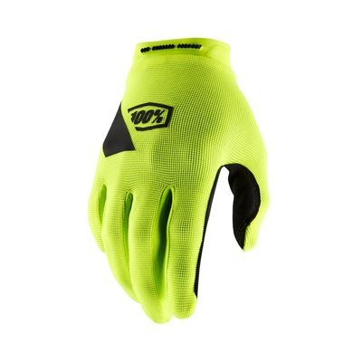 100% Ridecamp Glove Fluo Yellow